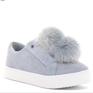 fee0a72bc5174c Sam Edelman Leya pom pom fur slip on sneakers!
